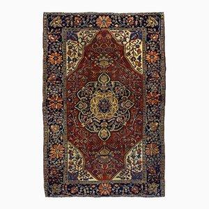 Antique Handmade Persian Sarouk Farahan Rug, 1880s