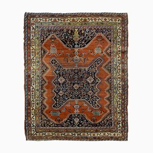 Antique Handmade Persian Mishan Malayer Rug, 1900s