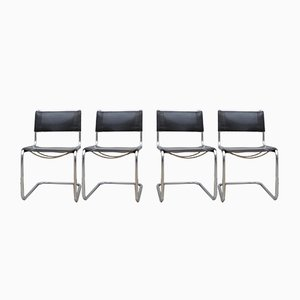 Vintage S33 Cantilever Chairs by Mart Stam for Thonet, Set of 4