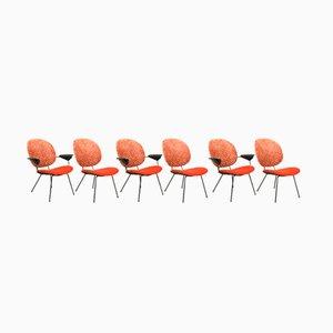 Vintage 301 & 302 Stühle von W.H. Gispen für Kembo, 6er Set