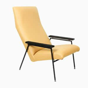 Lounge Chair in Soft Yellow Leather by Rob Parry for Gelderland, 1960s