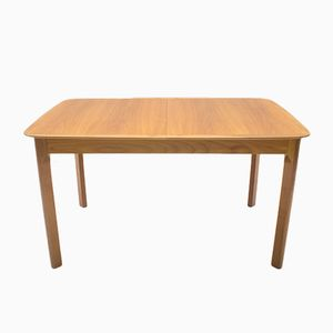 Mid-Century Extendable Walnut Veneer Dining Table, 1960s