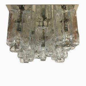 Vintage Granada Murano Ice Glass Flush Mount Ceiling Light from J.T Kalmar