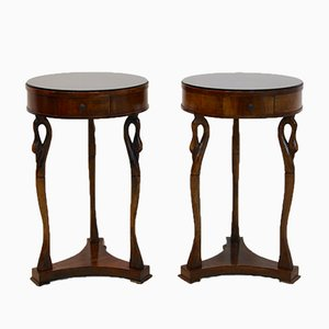 Mid-Century French Swan Tables, 1960s, Set of 2
