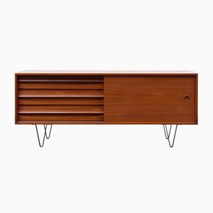Teak Sideboard with Sliding Door, 1960s