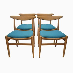 W2 Chairs by Hans J. Wegner for Damien Gernay, Magali Vernier & Olivier Pitot, 1953, Set of 4