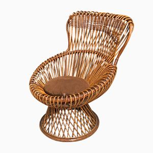 Vintage Margherita Rattan Chair by Franco Albini