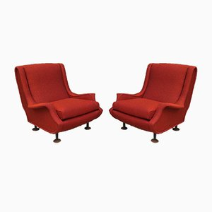 Vintage Italian Lounge Chairs by Marco Zanuso for Arflex, 1960s, Set of 2