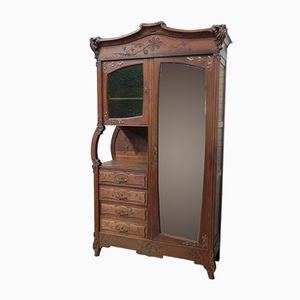 Art Nouveau Cabinet with Mirror