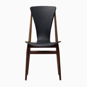 Vintage Side Chair with Sculptural Seat