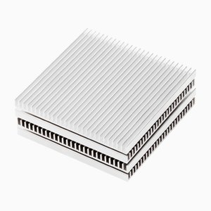Silver Fin Coasters by Shaun Kasperbauer for Souda, Set of 4
