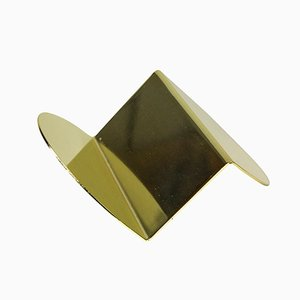 Brass Wave Business Card Holder by Nina Cho for Souda
