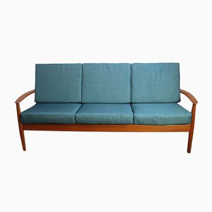 Modell 118 Sofa aus Teakholz von Grete Jalk für France & Søn, 1950er