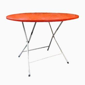 Klappbarer französischer Tisch aus rotem Metall