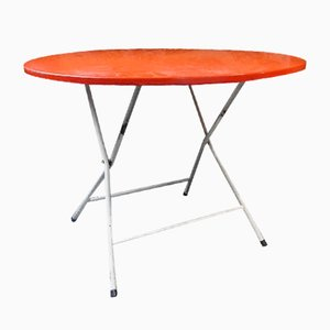Tavolo pieghevole in metallo rosso, Francia