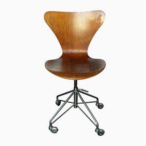 Vintage 3117 Office Swivel Chair by Arne Jacobsen for Fritz Hansen, 1969