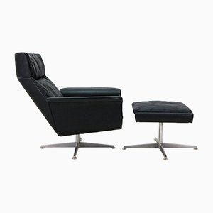 Vintage Lounge Chair with Ottoman by Hans Kaufeld, 1960s