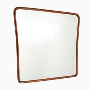 Mid-Century Italian Wooden Framed Mirror, 1950s