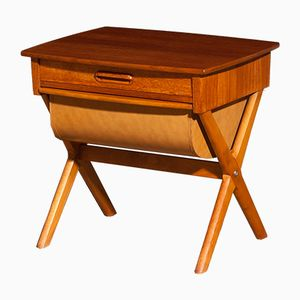 Swedish Teak Sewing Table, 1960s