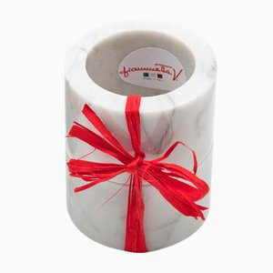Ronds de Serviettes en Marbre de Carrare Blanc par FiammettaV Home Collection, Set de 2