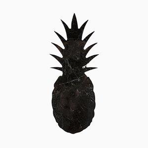 Grande Planche à Découper ou Plateau de Service en Marbre Noir en Forme d'Ananas par Carlotta Turini pour FiammettaV Home Collection