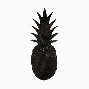 Large Black Marble Cutting Board or Serving Tray with Pineapple Shape by Carlotta Turini for FiammettaV Home Collection