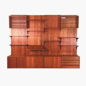 Vintage Danish Royal Teak Wall Unit by Poul Cadovius for Cado