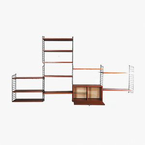 Mid-Century Teak Shelving Unit by Niels Strinning for String