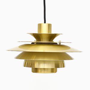 Vintage Danish Gold Verona Lamp from Jeka