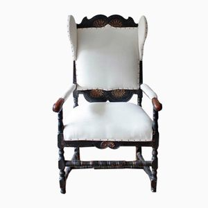 18th-Century Norwegian Painted Armchair