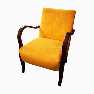 Armchair in Mahogany and Fabric, 1930s