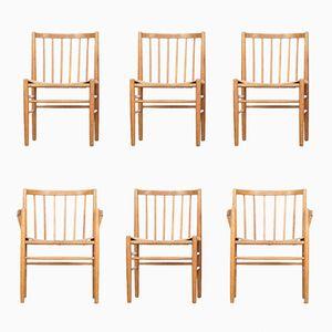 Chaises de Salon par Jørgen Baekmark pour FDB Mobler, 1950s, Set de 6