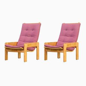 Chaises par Yngve Ekström pour Swedese, 1970s