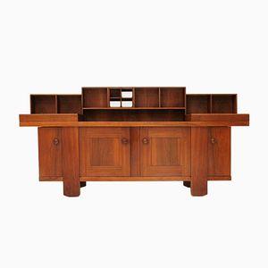 Vintage Walnuss Furnier Sideboard von Silvio Coppola für Bernini, 1960er