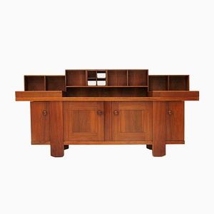 Vintage Walnut Veneer Sideboard by Silvio Coppola for Bernini, 1960s