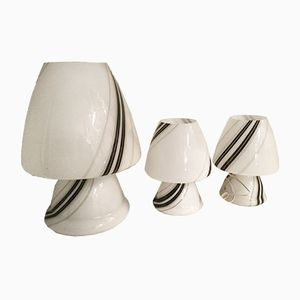 Mid-Century Table Lamps, Set of 3
