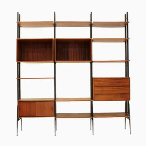 Vintage Italian Teak Wall Unit by Fraber Mobili, 1950s