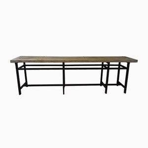Französischer industrieller Vintage Werktisch