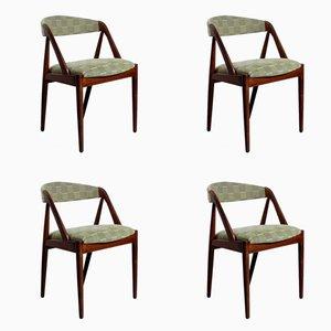 Teak Esszimmerstühle von Kai Kristiansen für Schou Andersen, 1960er, 4er Set