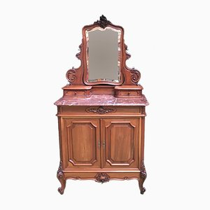 Coiffeuse Louis XV Antique en Noyer