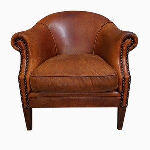 Vintage Dutch Cognac Leather Armchair