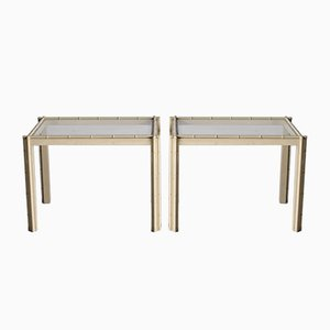 Italian Faux Bamboo Tables, 1980s, Set of 2