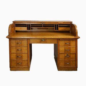 Vintage Roll-Up Office Desk