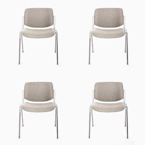 Industrielle Stühle von Giancarlo Piretti für Castelli, 1960er, 4er Set