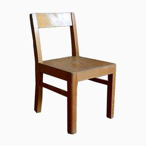 Vintage French Wooden Children's Chair