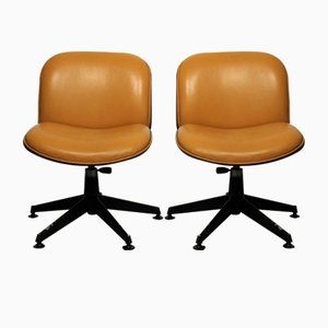 Mid-Century Italian Swivel Chairs by Ico Parisi for MIM, Set of 2