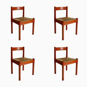 Vintage Carimate Dining Chairs by Vico Magistretti, Set of 4