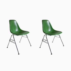 Fibreglass DSS Chairs by Charles & Ray Eames for Herman Miller, Set of 2