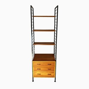 Mid-Century Single Bay Ladderax System by Robert Heal for Staples