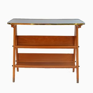 Vintage Side Table with Magazine Rack, 1960s